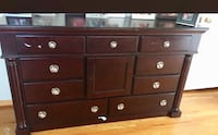 Brown wooden 6-drawer lowboy dresser Cupertino, 95014