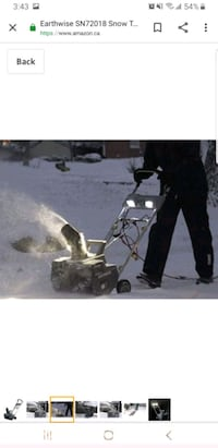 snowblower Earthwise 18 in Winnipeg, R2W 2K9