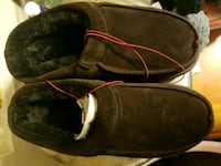 pair of brown suede slip-on shoes Las Vegas, 89156