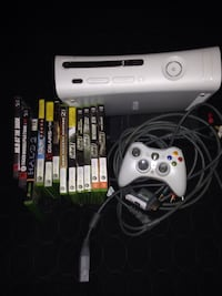 White xbox 360 console with controller and game cases Silver Spring, 20910