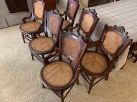Antique Eastlake Victorian dining chair set