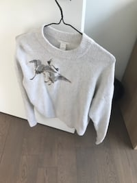 gray and black crew-neck sweater MONTREAL