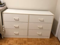 White wooden 6 drawer dresser Toronto, M3C 1R7