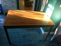 Ikea pine table, 29x29x46.25, $20 or best offer Baltimore, 21218