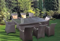NEW: 9pc Wicker Rattan TABLE sets in Various COLOURS TORONTO