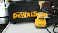 yellow and black DEWALT corded power tool 535 km