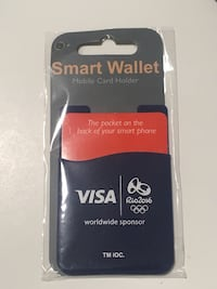 New Silicone Smart Wallet Mobile Card Holder Sticks to Phone Navy nice