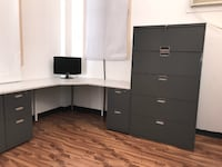 Desk with a Matching 5 Drawer Filing Cabinet - Combo Deal Glendale