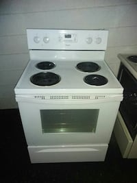 white 4-coil electric range oven Surrey, V3R 3B8