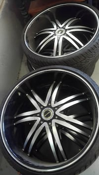 """4- 24"""" Strada Diablo Rims and Tires Clearfield, 84015"""