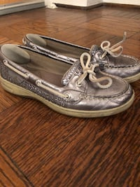 Sperry Topsiders, Silver, Women's size 6 Washington, 20037