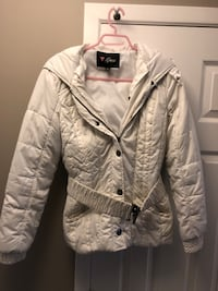 White Guess coat with hood Stoney Creek, L8E 4C6