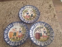 Painted dishes-bassano-Italian artist  Vaughan, L4L 0G7