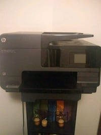 gray and black HP Officejet Pro multi-function printer