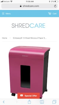Embassy 14-Sheet Microcut CD DVD Media Paper Shredder Fresno, 93702