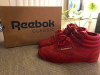 Red Reebok Princess Hi-Top 9.5 Women's  2243 mi