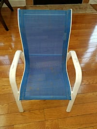 Metal and mesh blue and white color kids chair Edison, 08820