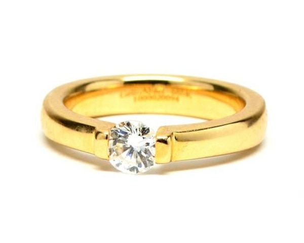 Channel-Set Solitaire Ring