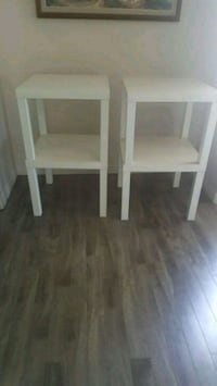 two white wooden side tables Chestermere, T1X 1S5