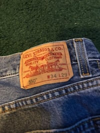 3 pairs of Levis 550's 34 w 29 L broken in no damage like new Browns Mills, 08015