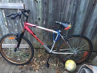 red and white Mongoose hardtail mountain bike Mississauga, L5M 6E6