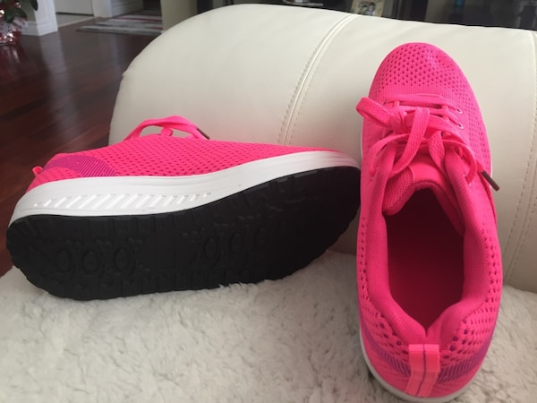 pink-and-white sneakers