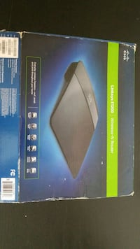 black and blue Linksys wireless router box Los Angeles, 90012