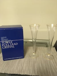 Towle Full Lead Crystal Champagne Flutes - 2 Alexandria, 22314