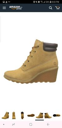 unpaired brown Timberland work boots Toronto, M3N 2Y4
