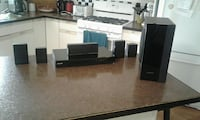 black home theater system set