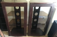 two black wooden 3-layer shelves Indianapolis, 46268