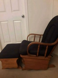 black and brown leather padded rolling armchair Surrey, V4N 2R3