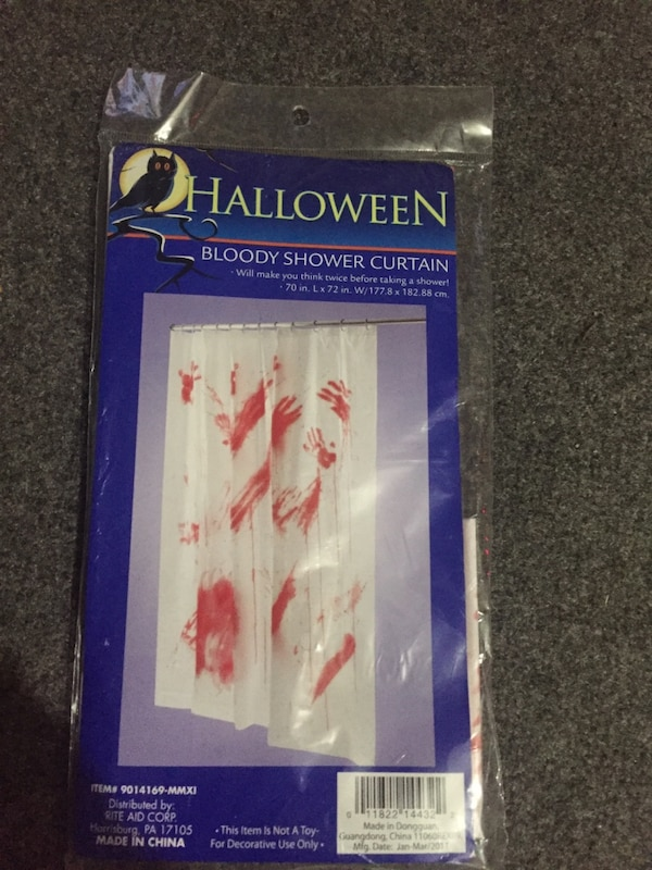 Used Bloody Shower Curtain For Sale In Algoma