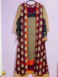 4piece zoom designer chiffon full embrioded goan suit new in large size  Mississauga, L5V 1R4