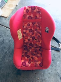 Baby's red and black car seat carrier