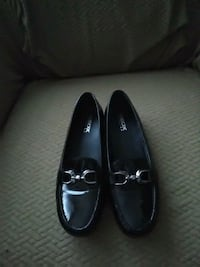 pair of black leather loafers Boston, 02126