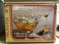 New! Vintage CRYSTAL punch bowl set of 17 pieces Toronto, M2J 2C4