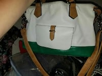 white and green  leather two way bag Beckley, 25801