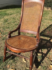 Antique Wooden Rocking Chair with Cane seat/back Centreville, 20120