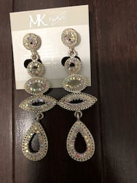 silver and diamond studded earrings Vaughan, L4H