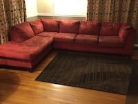 Red  microfiber sectional Laurel, 20708