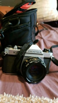 Pentax camera and case