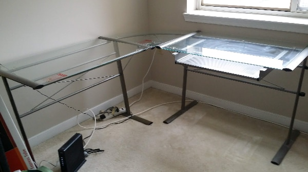 FREE glass/metal computer desk