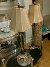 two black and white table lamps Markham, L3S 3B7