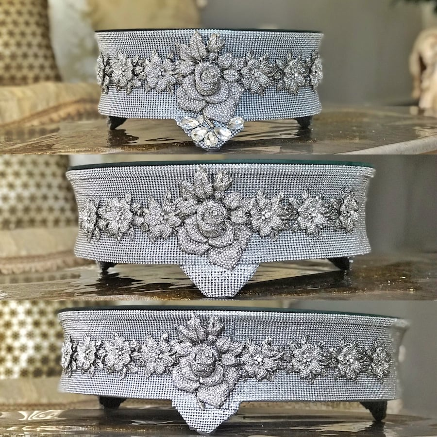 Crystalized Cake Stands (Set)