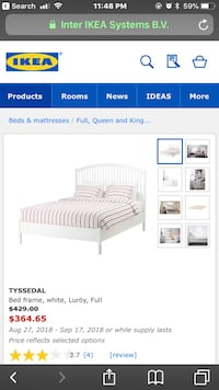 Ikea queen bed frame in good condition  Vancouver, V6J