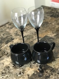 two black glass candle holders Columbia, 29209