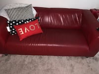 Red ikea couch Towson