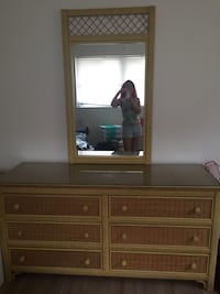 brown wooden dresser with mirror Tampa, 33612