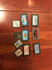 assorted Nintendo DS game cartridges